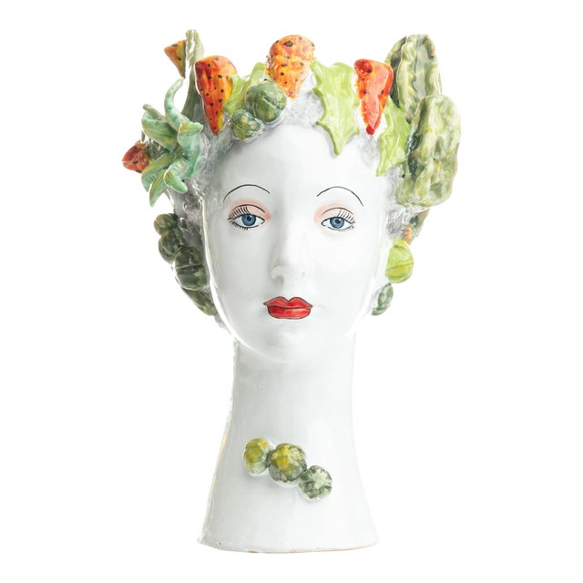 Sculpture with Succulents, Ceramiche D'arte Dolfi For Sale