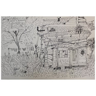 Drawing by Paul Wonner and William Theophilus Brown For Sale