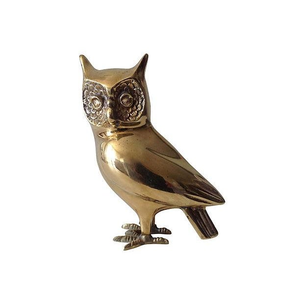 Brass Standing Owl with Crow Feet - Image 1 of 7