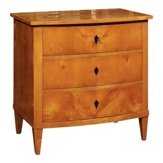 Biedermeier Commode in Warm Polished Maple For Sale
