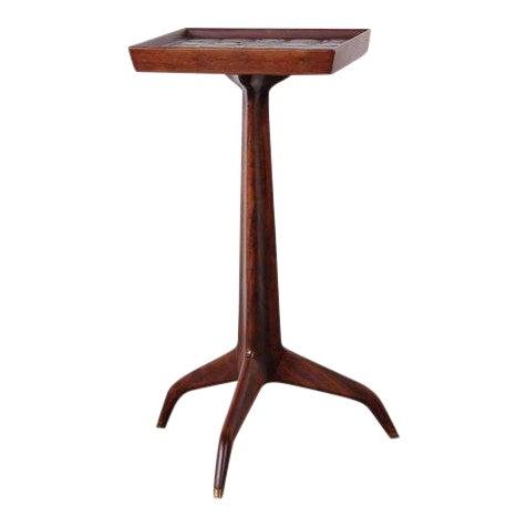 Edward Wormley Dunbar Janus Side Table With Natzler Tiles For Sale