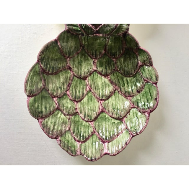 Red Neuwirth Artichoke Double Serving Dish-1980's For Sale - Image 8 of 10