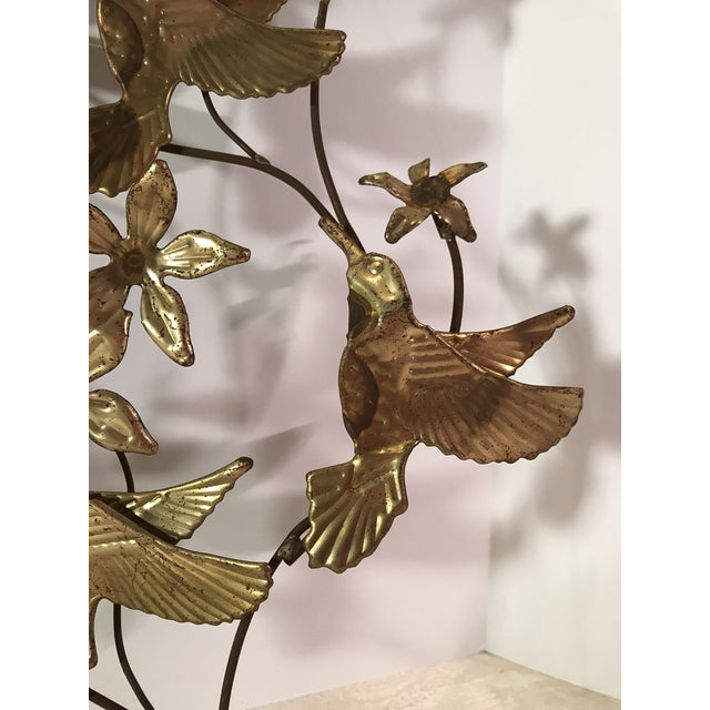 Gold Mid-Century Metal Leaf Wall Art - A Pair For Sale - Image 8 of 9