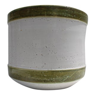 Italian Bitossi Handmade And Painted Ceramic Planter Pot For Sale