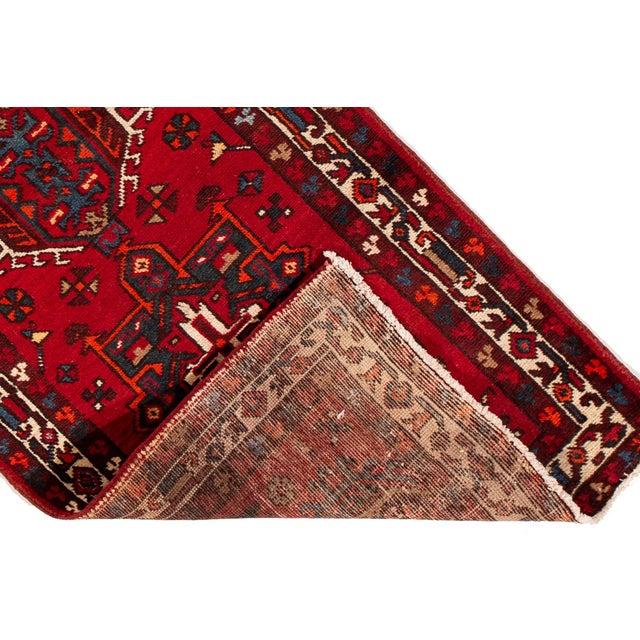"Islamic Apadana - Vintage Persian Heriz Runner Rug, 3'1"" X 10'11"" For Sale - Image 3 of 7"