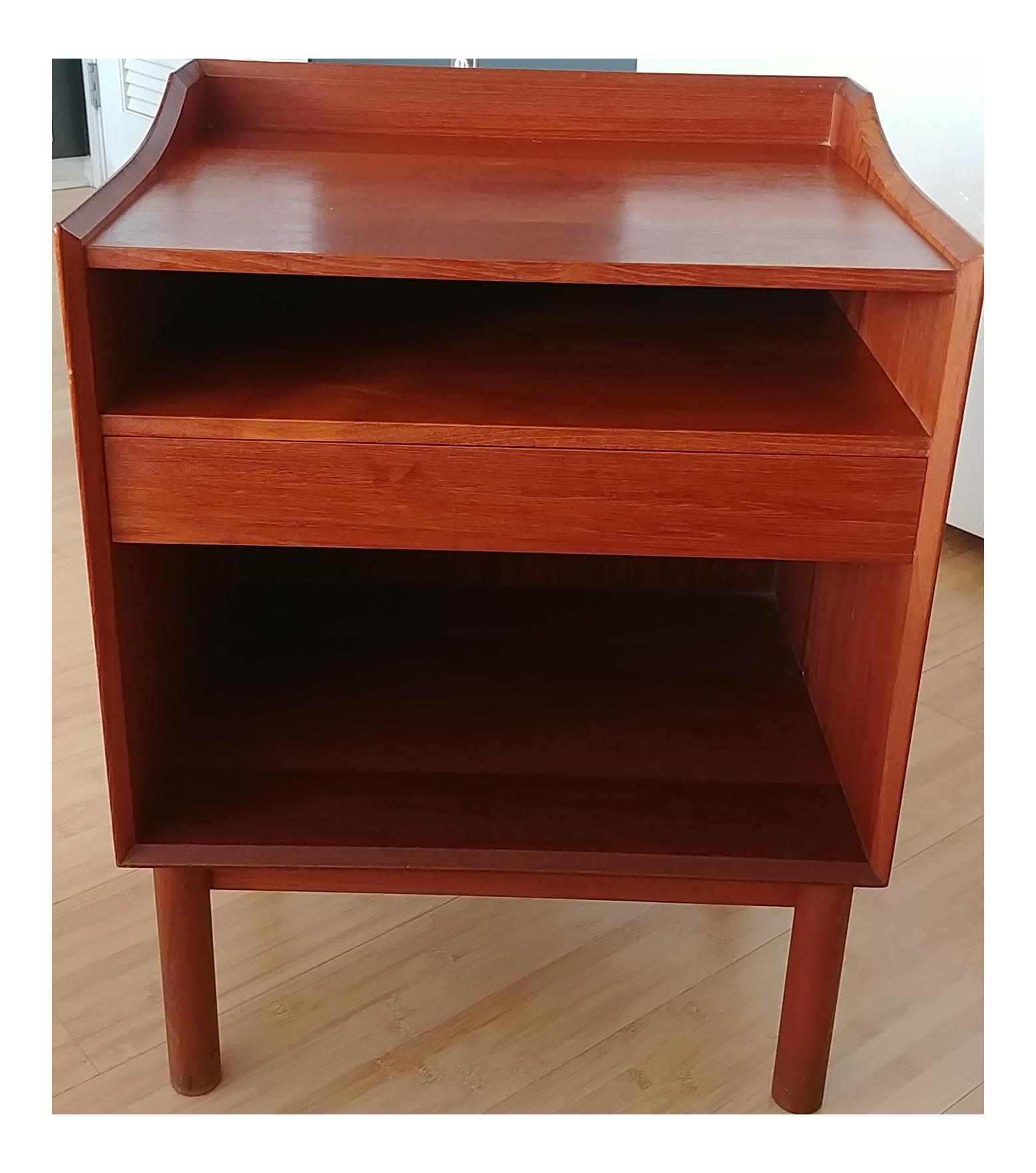 vintage & used teak nightstands | chairish Funky Modern Nightstands