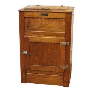 1900s Antique Oak Ice Box For Sale