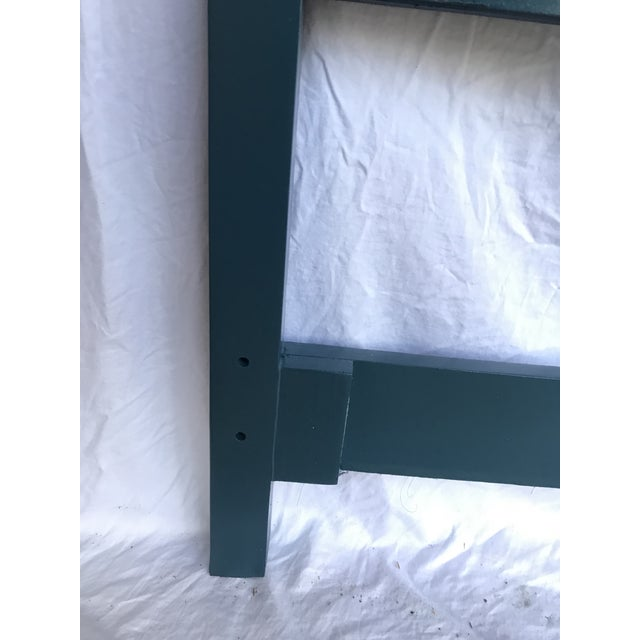 1960s Teal Lacquered Faux Bamboo Headboard, King Size For Sale - Image 5 of 7