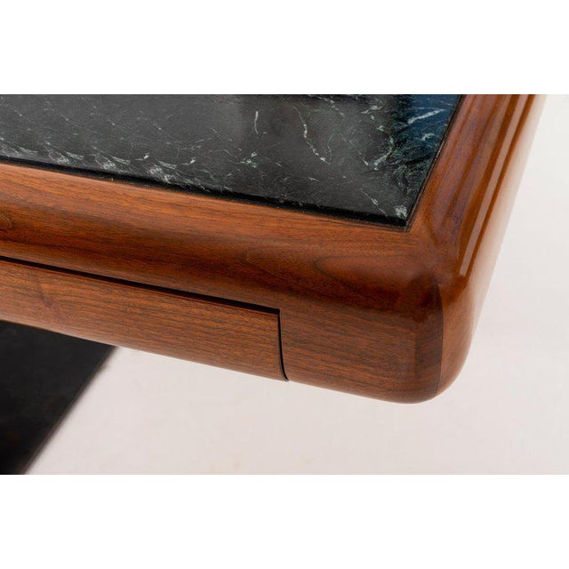 Gold 1960's Teak and Marble Executive Desk For Sale - Image 8 of 11