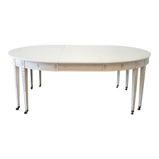 Early 20th Century Antique Gustavian Style Dining Table For Sale