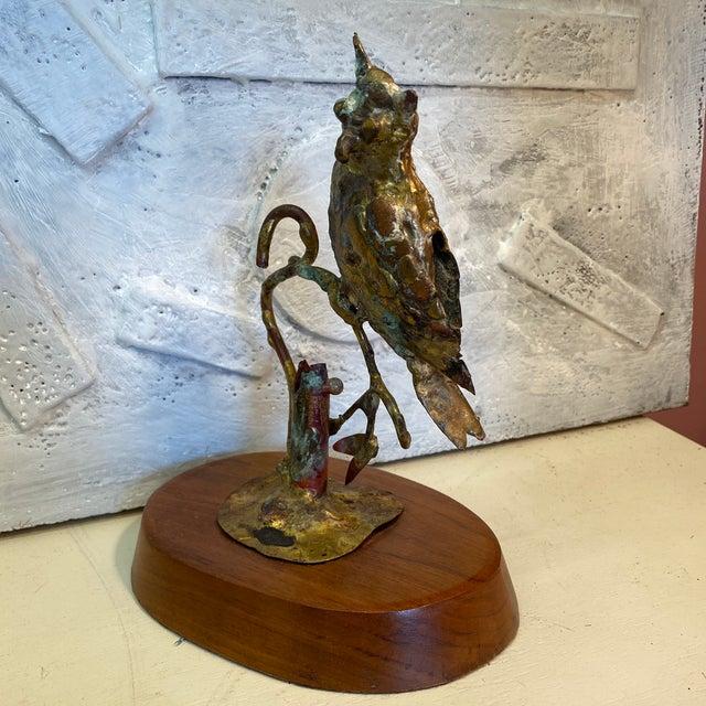Bill Lett 1970s Bill Lett Brutalist Owl Sculpture For Sale - Image 4 of 13