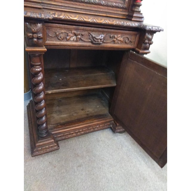 Wood 19th Century French Hunter's Cabinet/Bookcase For Sale - Image 7 of 13