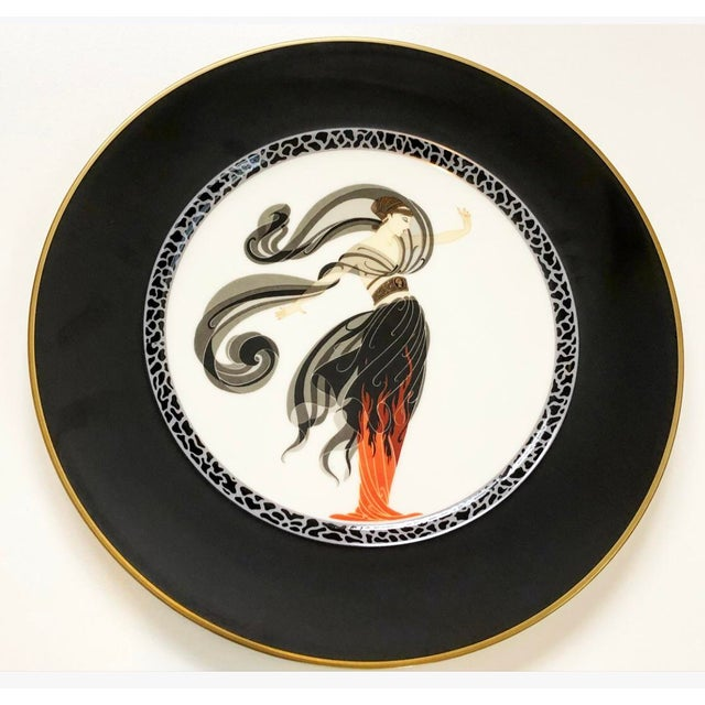 Vintage Collectable Erte Flames D' Amour Bone China Plate For Sale In Tampa - Image 6 of 6
