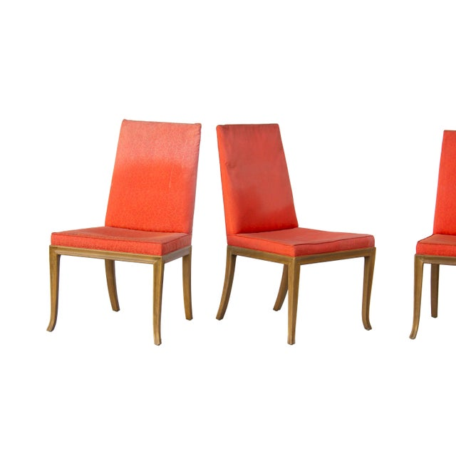 1960s Dining Chairs by t.h. Robsjohn-Gibbings for Baker - Set of 4 For Sale - Image 5 of 11