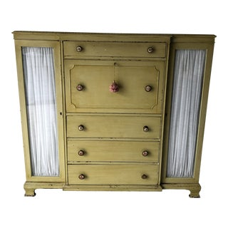 French Country Style Ladies Chiffonier Secretary Cabinet C.1930's For Sale