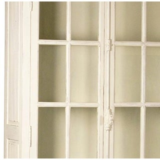Antiqued White Glass Door Cabinet Preview