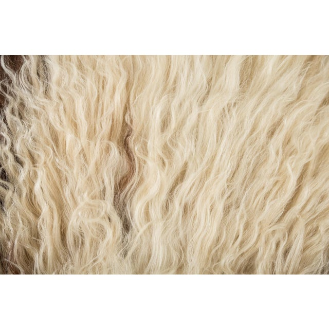 "Children's Contemporary Long Soft Wool Sheepskin Pelt - 2'0""x3'2"" For Sale - Image 3 of 7"