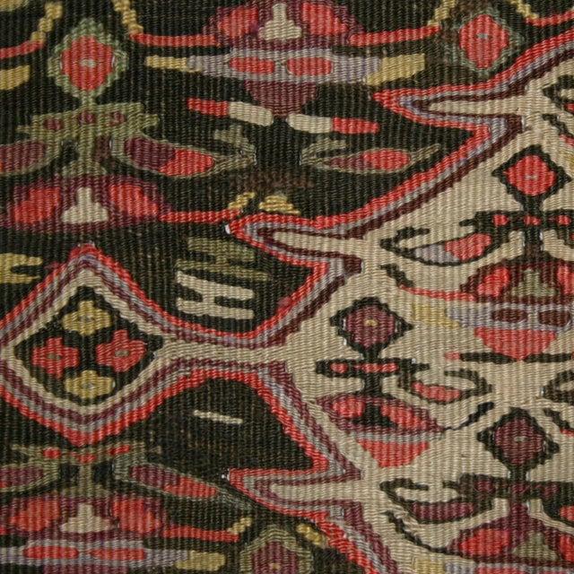 """Antique Senneh Kilim Rug - 3'7"""" 10'4"""" - Image 5 of 5"""
