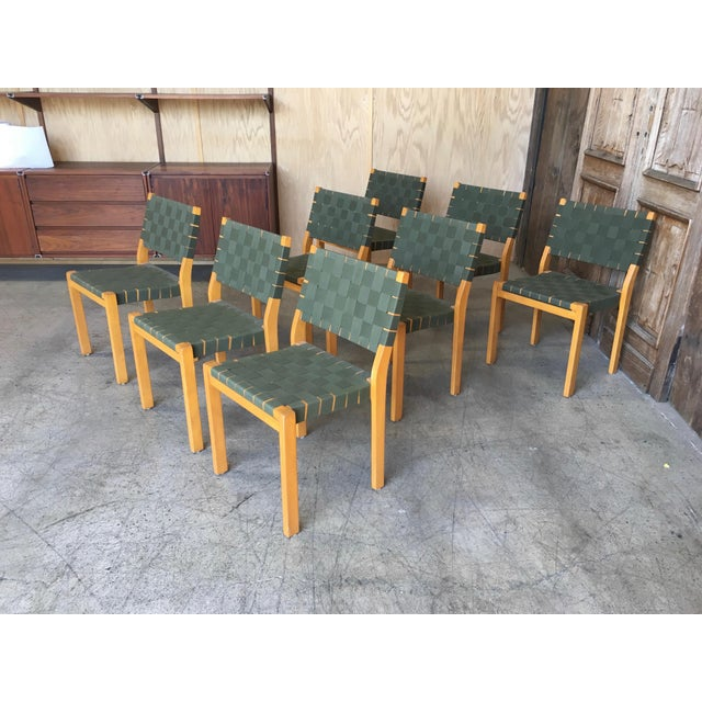 Mid 20th Century Alvar Aalto Dining Chairs - Set of 8 For Sale - Image 5 of 12