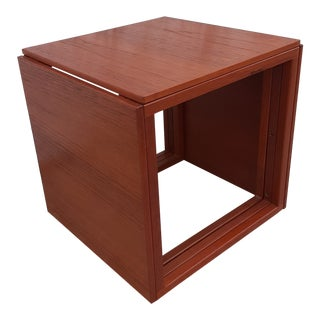 Danish Mid-Century Modern Teak Cube Nesting Tables - Set of 3 For Sale