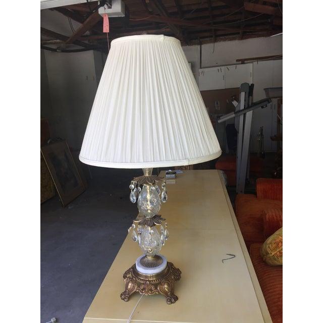 Vintage Hollywood Regency Bronze & Glass Table Lamp - Image 2 of 6