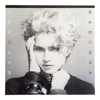 "Vintage 1983 Iconic ""Madonna"" First Album Sire Record Co. Promo Collector's Poster For Sale"