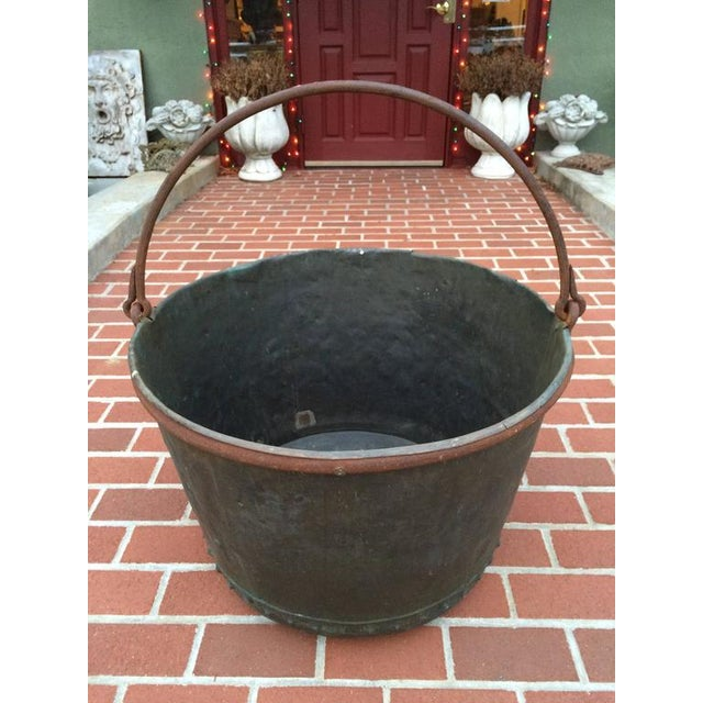 Country Large Early 19th Century Riveted Copper Log Holder For Sale - Image 3 of 11