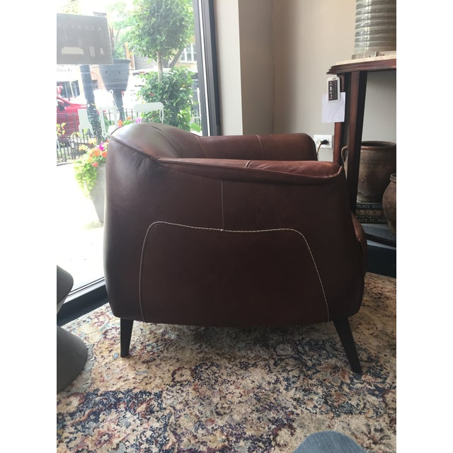 Leather Classic Brown Leather Club Chair from Kenneth Ludwig Home For Sale - Image 7 of 9