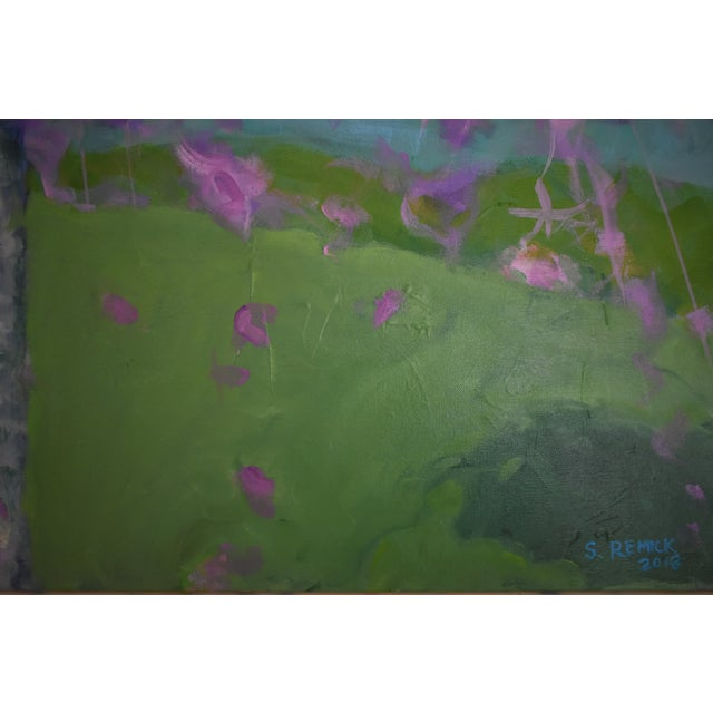Blue Weeping Cherry Tree Painting by Stephen Remick For Sale - Image 8 of 11