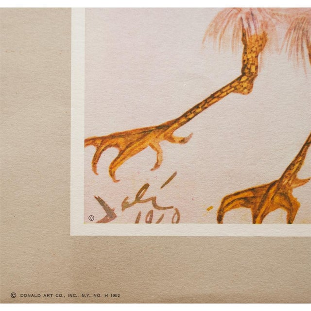 """1952 Dali, Original Period """"Birds"""" Lithograph From the Mrs. Albert D. Lasker Collection For Sale In Dallas - Image 6 of 10"""