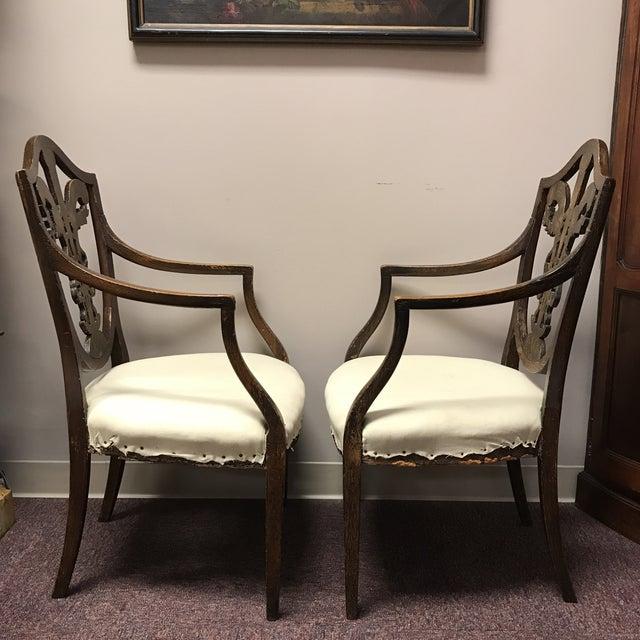 C. 1795 English Hepplewhite Chairs - A Pair - Image 4 of 10
