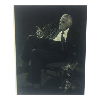"Black & White Print on Paper, ""Robert Frost"" by Yousuf Karsh, 1967 For Sale"