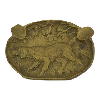 Antique Hound Ashtray
