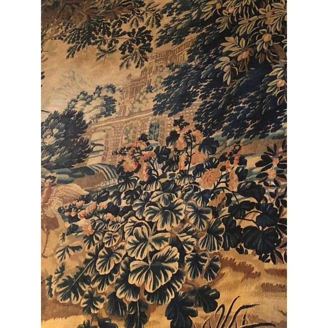 Neoclassical A 17th / Early 18th Century Flemish Pastoral Tapestry Prov. Christies NYC. For Sale - Image 3 of 12