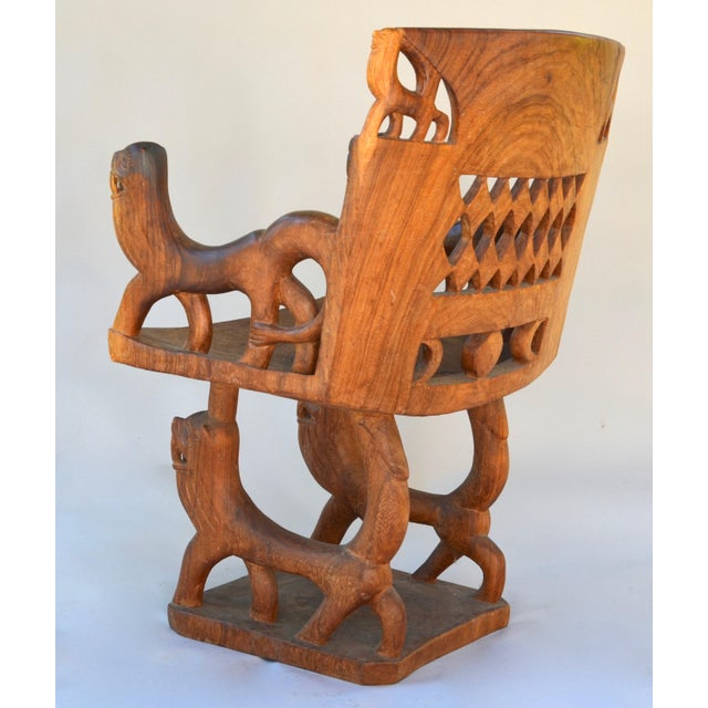 African Benin Tribal Wood Chair For Sale In Los Angeles - Image 6 of 10