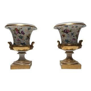 19th Century Paris Porcelain Urns - A Pair