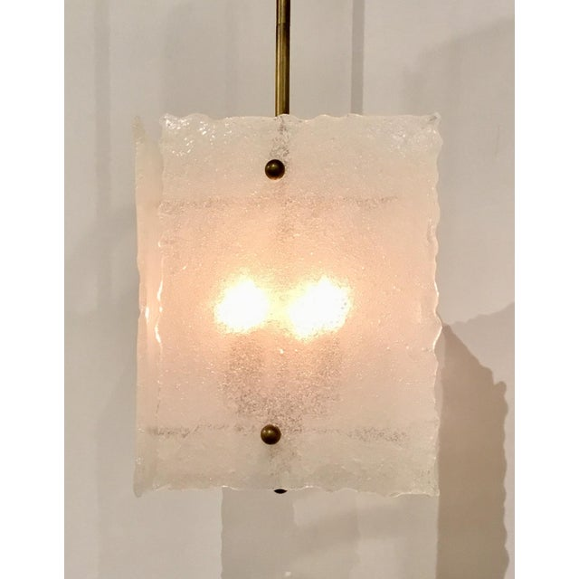 2010s Arteriors Glass Kala Pendant For Sale - Image 5 of 6