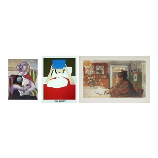 Pablo Picasso, Will Barnet & Carl Larsson, Woman Reading For Sale