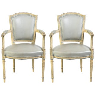 Early 20th Century Louis XVI French Armchairs- a Pair For Sale