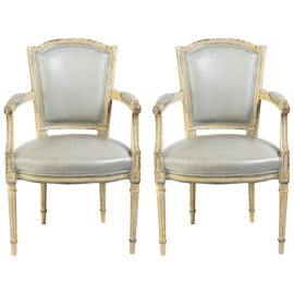 Image of Gray Bergere Chairs