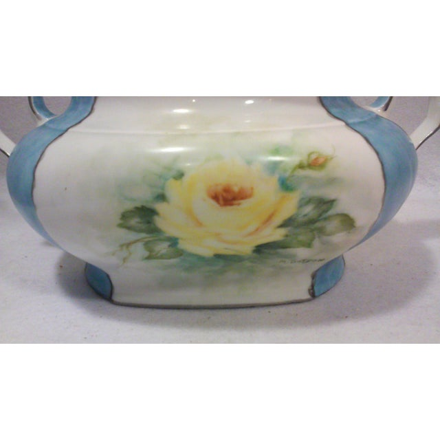 Art Deco Hand Painted Bavarian Porcelain Soup Tureen For Sale In Detroit - Image 6 of 10