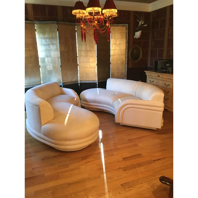 """Pair of gorgeous Vladimir Kagan cloud matching sofas in original """"mint"""" condition. The sofas were placed in an unused..."""