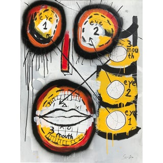 """Game Face"" Original Mixed Media Artwork by Soren Grau For Sale"