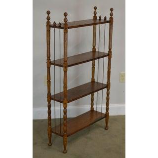 Antique Victorian Oak 4 Tier Open Bookcase Book Shelf Preview