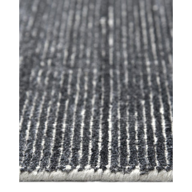 2020s Halsey, Contemporary Solid Hand Loomed Area Rug, Charcoal, 5 X 8 For Sale - Image 5 of 9