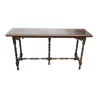Antique William & Mary Style Wood Console Entry Table by Imperial Furniture For Sale