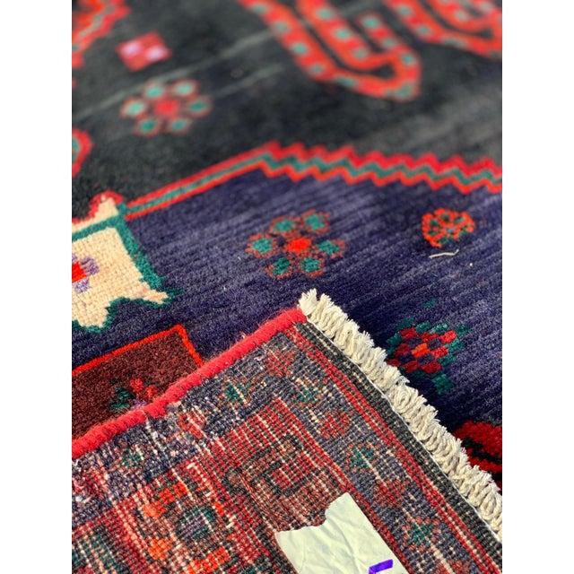 1960s Vintage Persian Bijar Runner Rug - 4′3″ × 11′4″ For Sale - Image 11 of 13