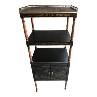 Asian Black Etagere For Sale
