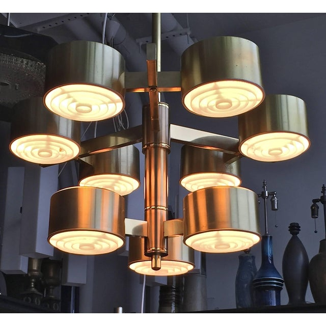 Mid-Century Modern Oversized Chandelier by Hans-Agne Jakobsson For Sale - Image 3 of 11