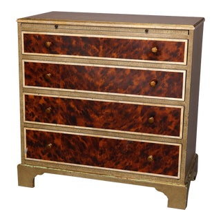 Antique Art Deco Server Chest with Faux Snake and Tortoise Finish, circa 1930 - a Pair For Sale